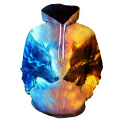 Tops-2017 Fashion men's clothing  3D printing ice and fire Hoodie autumn and winter Men Sweater Cotton  Size S-6XL on JD