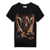 Tops-MEN BONE 3D Personality trend T-shirt on JD