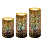 LED Lights-GiveU 3D Flameless Led Candles with Timer, Battery Operated Candles Color Changing Pillar Candles Firework Light, for Wedding Deco on JD