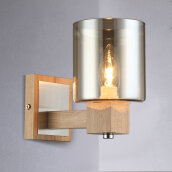 Wall Lights-BOKT Modern Minimalist Bedroom Bedside Lamp Corridor Wall Lamp Wall Porch Lights Home Decor Smoky Grey Glass Lampshade on JD