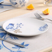 Storage & Organization-A Ting Ceramic Plates  Blue and White Porcelain 8x8 Set of 1 Bird on JD