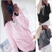 Hoodies-Sweatshirts-Europe and the United States women autumn and winter burst fashion punch wear long sleeve shirt sweater coat on JD