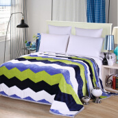 Blankets & Throws-Percy home textiles: Reactive Dyes Ferrets Velvet Bedding Blanket ;280gsm Casual blanket on JD