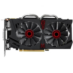 华硕(ASUS)猛禽STRIX-GTX950-DC2OC-2GD5-GAMING 1355MHz/6610MHz 2GB/128bit DDR5 PCI-E 3.0 显卡