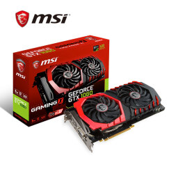 微星(MSI)GeForce GTX 1060 GAMING X 6G 1594-1809MHZ GDDR5 192BIT PCI-E 3.0 旗舰红龙 吃鸡显卡