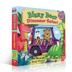 Bizzy Bear: Dinosaur Safari  进口新奇特玩具书