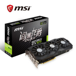 微星(MSI)GeForce GTX 1070 8G DUKE 闇黑龙爵 256BIT  8GB GDDR5 PCI-E 3.0 三风黑龙 吃鸡显卡