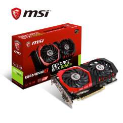 微星(MSI)GeForce GTX 1050 Ti GAMING X 4G 1290-1493MHZ 128BIT GDDR5 PCI-E 3.0 旗舰红龙 吃鸡显卡
