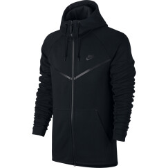 耐克 NIKE 男子 风行者 帽衫 连帽夹克 TECH FLEECE WINDRUNNER HOODIE 外套 805145-010黑色XL码