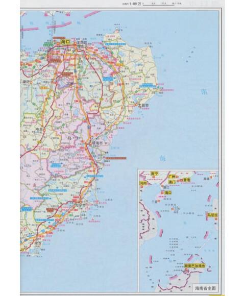广东省交通地图_广东省旅游交通地图-