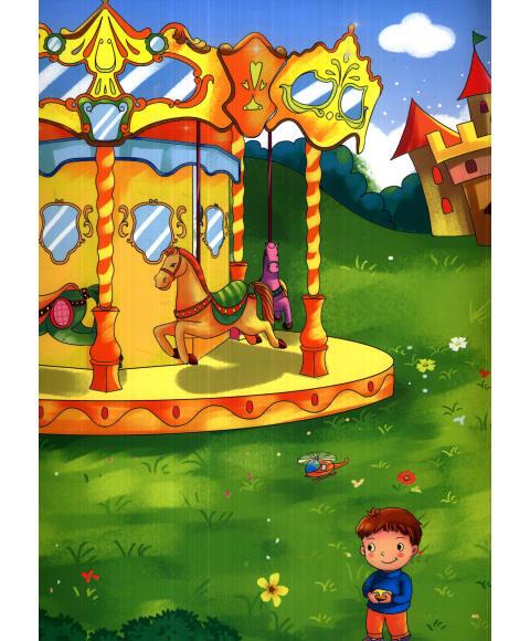 游樂園畫畫圖片二年級
