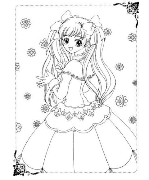公主禮服簡筆畫 設計圖展示