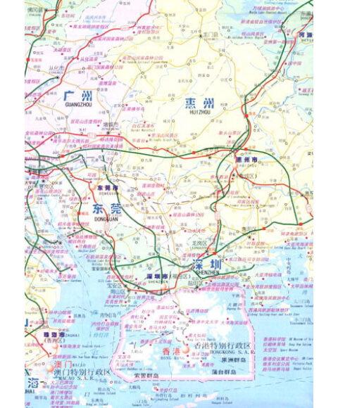 广东省旅游交通图