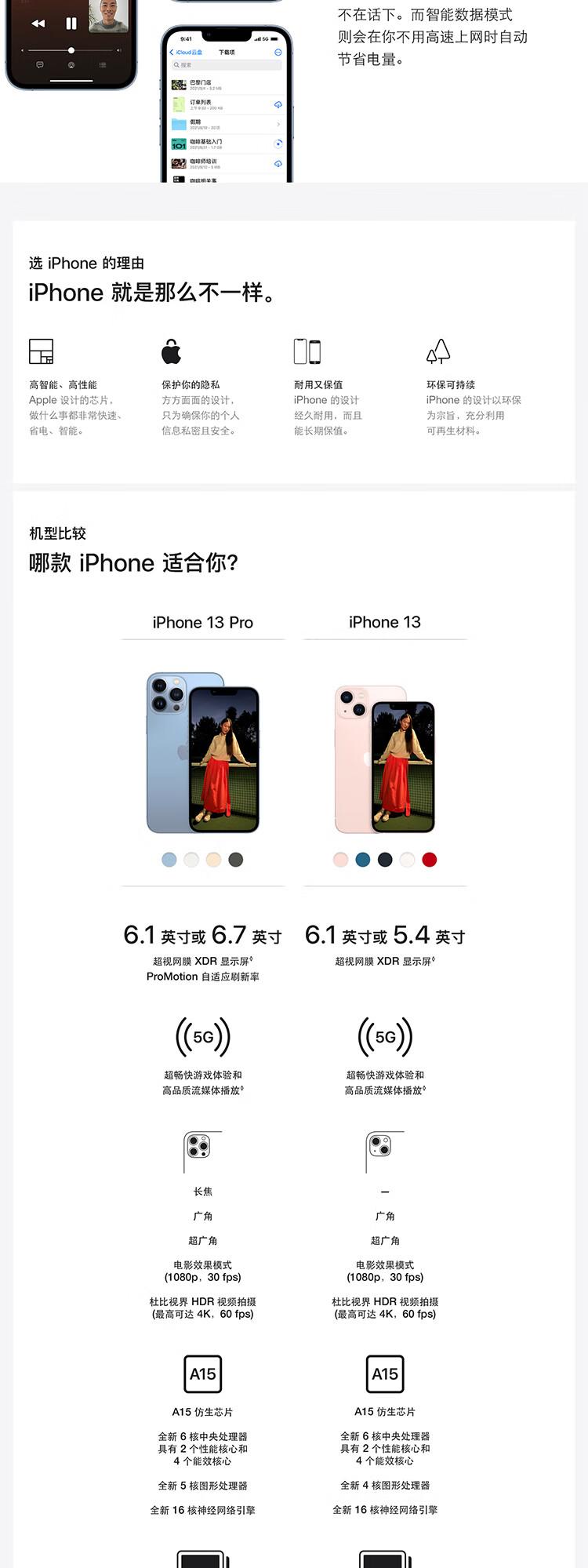 Apple iPhone 13 Pro Max (A2644) 256GB 远峰蓝色 支持移动联通电信5G 双卡双待手机