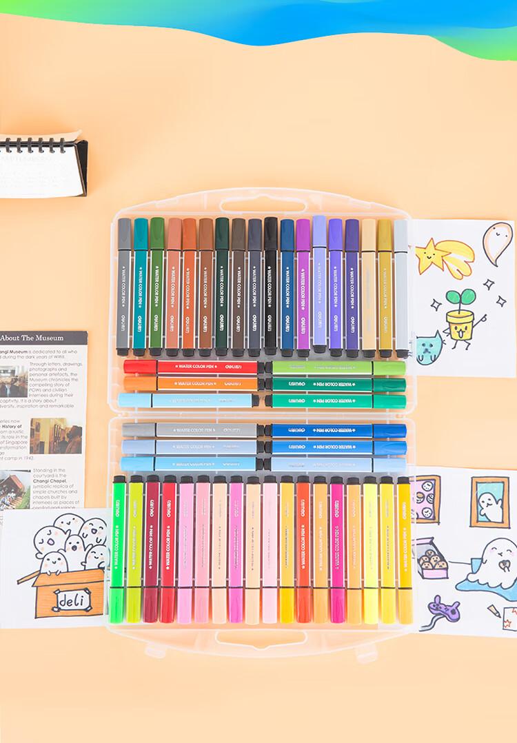 得力水彩笔质量怎么样?使用一个月后介绍
