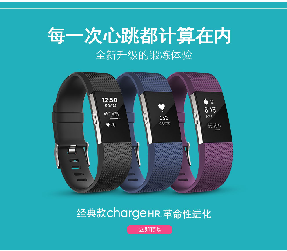 Fitbit 智能手环 Charge 2