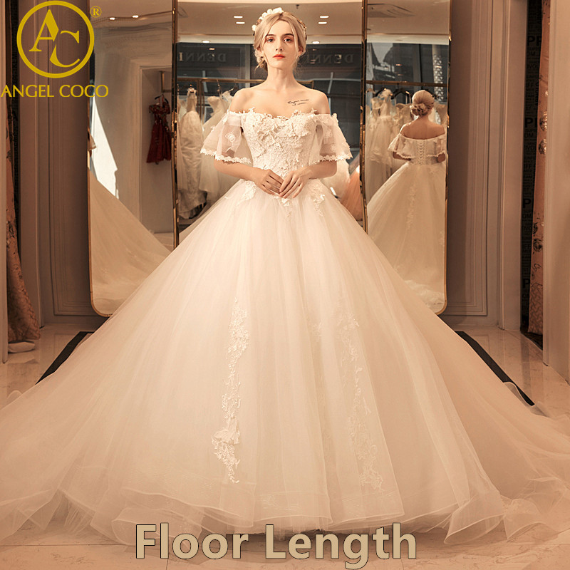 e9acaf41a9f5 Robe De Mariage Luxury Lace Bridal Wedding Dresses 2017 Ball Gown Vestido De  Noiva Weeding Dress Long Tailing Wedding Gowns