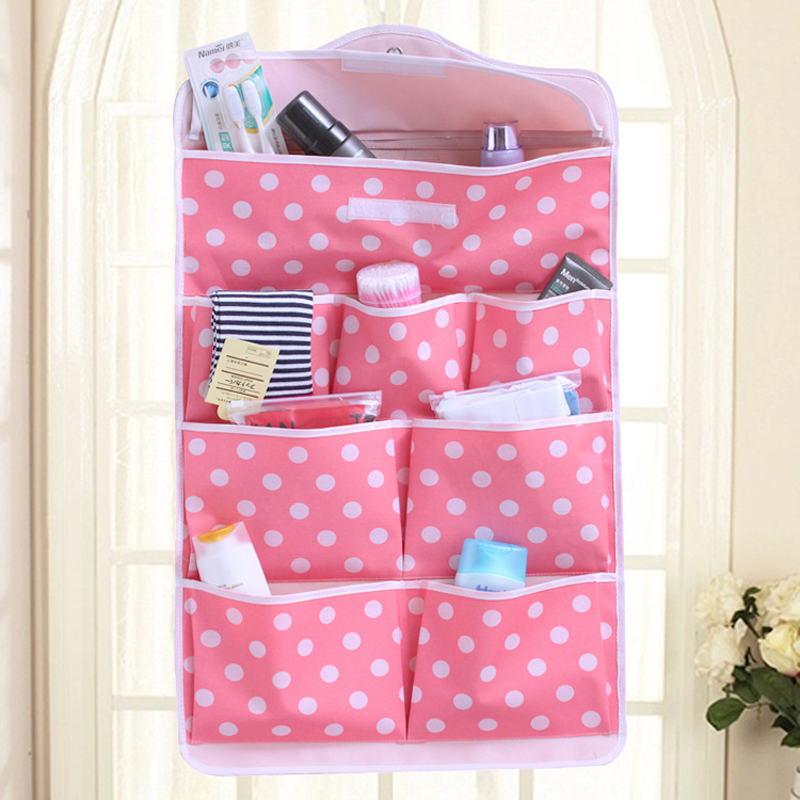Housekeeping Organization Storage Tool Behind The Door Hanging Cute Multifunction Storage Bag B65
