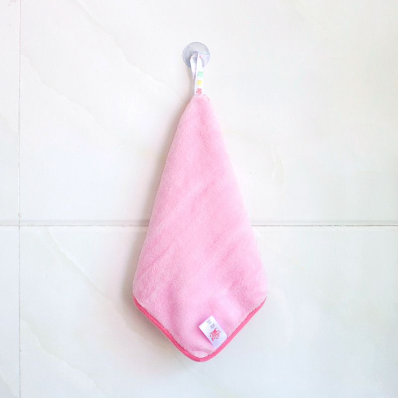 Kitchen Cleaning Mop Pot Towel Coral Velvet Sucker Hanging Accessories Do Not Dip Oil Water Absorption Thicker B13