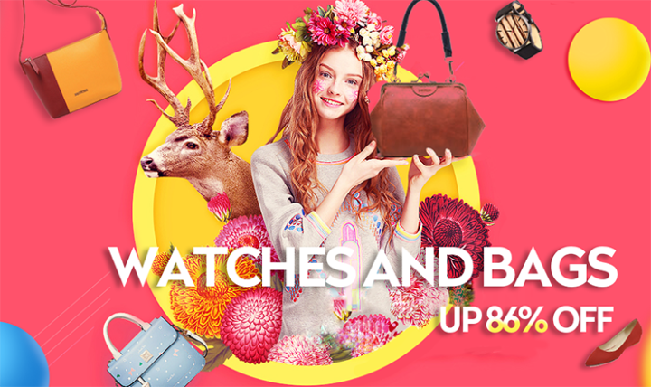 Buy Watches and Bags with discount on Joybuy.com