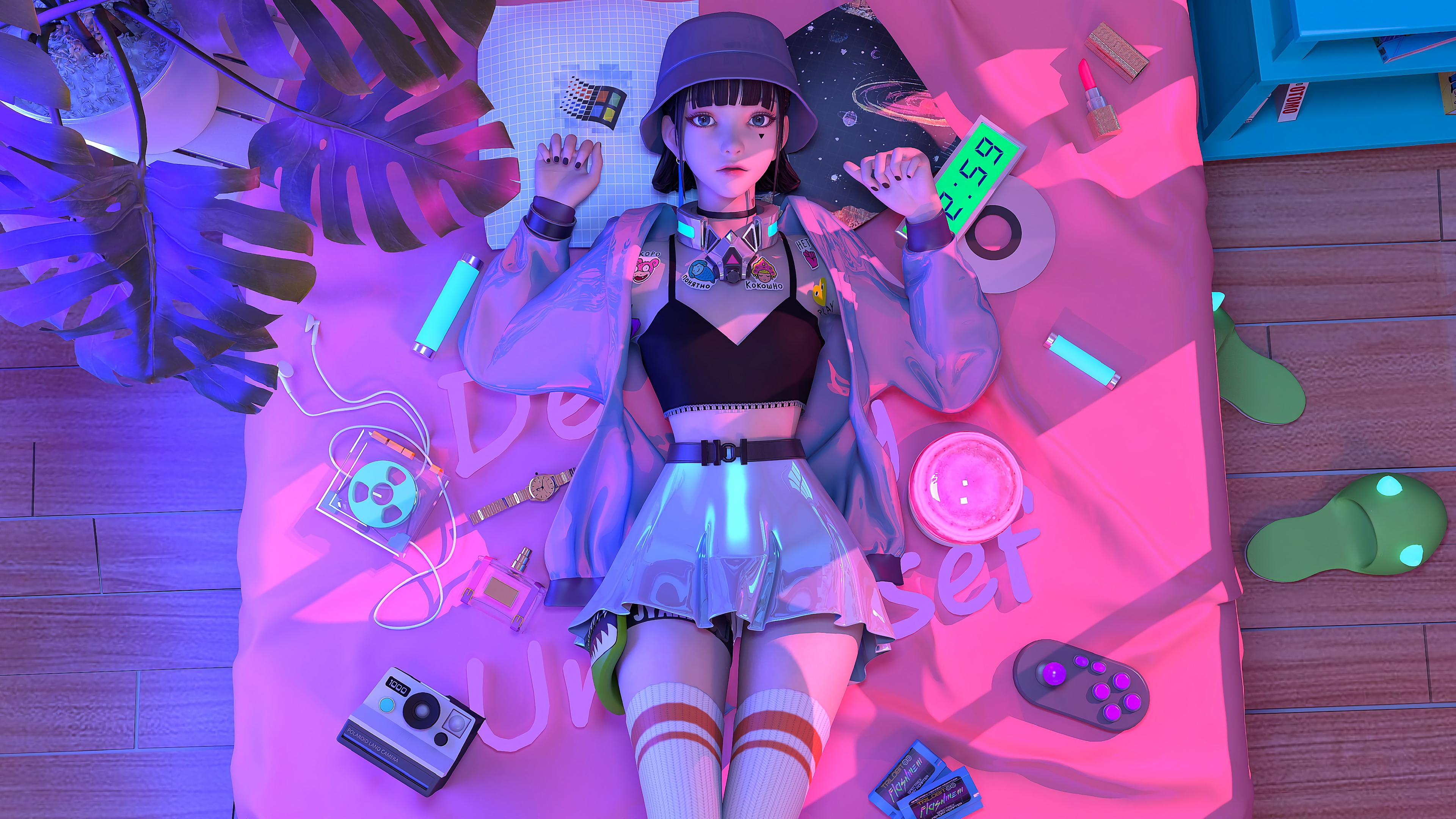 赛博朋克风格奇幻少女 集原美电脑4k壁纸3840x2160