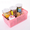 Joy Collection / 【Jingdong Supermarket】 INOMATA import storage basket office storage basket kitchen finishing basket basket basket pink