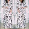 Lovaru ™ 2015 summer style women fashion maxi dress long sleeves v-neck high quality Soft and comfortable dress hot sale