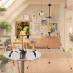 Aluminum Easel Stand Tripod Adjustable Height 19-55 Lightweight Sturdy Field Easel For Painting With Carrying Bag