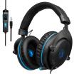 Colorful / SADES Auriculares con cable para juegos de 35 mm Cancelación de ruido sobre la oreja Auriculares para juegos con micrófono Control de volumen para PC Laptop Smart Ph