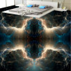 Free shipping 3d floor home decoration Fantasy Nebula Bedroom Floor self-adhesive waterproof mural baby room wallpaper 250cmx200cm