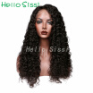 Human hair lace wig lace front wig medium brown lace natural color for black woman