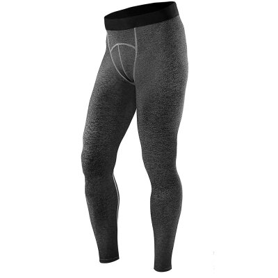 Quick-dry Stretchy Leggings Tight Skinny Elastic Tight Ankle Length Trousers Perspire Men Compression Pants