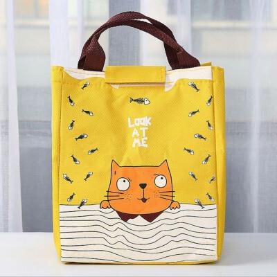 〖Follure〗Portable Lunch Bag Tote Picnic Insulated Cooler Zipper Organizer Lunch Box