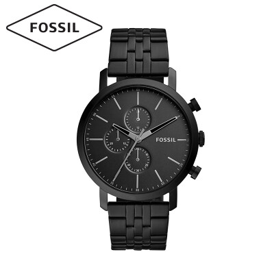 Fossil watch European&American fashion trend quartz mens watch new classic mens fashion watch cool black casual ultra-thin steel belt mens watch BQ2330