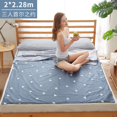 Banjeni cotton travel dirty sleeping bag sheets hotel across dirty sheets sleeping bag single double widened portable travel anti-dirty sleeping bag sheets Seoul about 200228cm