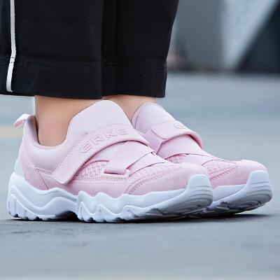 Hongxing Erke ERKE womens pink casual jogging sports shoes wear fashion womens running shoes 52118120117 pink 38