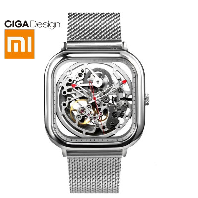 XIAOMI CIGA Design watch hollow mechanical watch MY series fashion waterproof men&women automatic mechanical watch double-sided hollow black