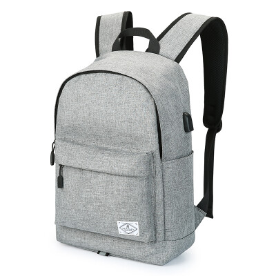 Scarecrow Backpack Men 14 Inch Large Capacity Laptop Bag Fashion Trend Commuter Student Backpack Casual Canvas Travel Sports Storage Travel Bag MMJB01181867 Gray
