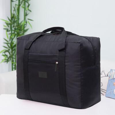 〖Follure〗Packable Travel Duffel Bag Waterproof Nylon Foldable Carry Package Versatile BK