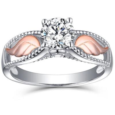 Fashion Angel Wing Shaped Ring Elegant Cubic Zirconia Finger Ring For Women