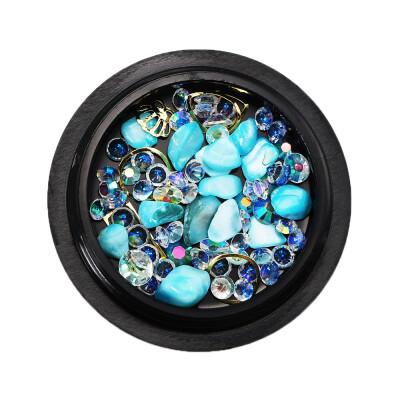Toponeto 1 Box Nail Beads Hollow Nail Art Decorations Metal Manicure DIY Nail Tips Art