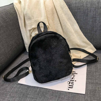 Tailored Womens Plush Backpack Multi-Function Shoulder Messenger Package New Handbag