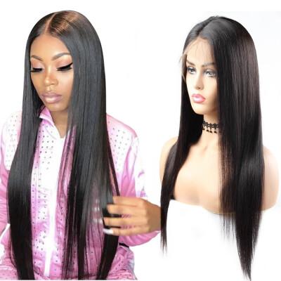 "Peruvian Hair 8A Straight Human Hair Wigs 360 Lace Frontal Wigs 10""-26"" Pre-plucked Human Hair Lace Front Wigs Swiss Lace Cap"