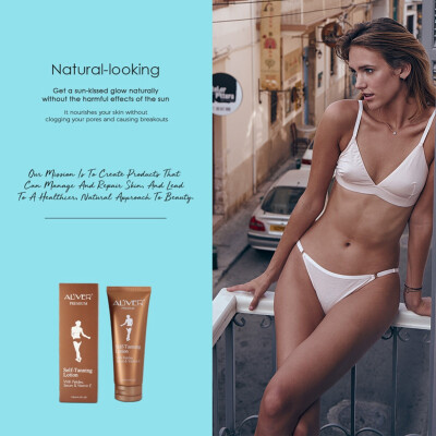 ALIVER Tanning Cream Self-tanning Cream Tanning Milk Moisturizing Body Lotion 125ml Skin Care For Everyone Easy To Use
