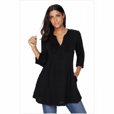 V-neck long-sleeved loose large size comfortable casual knit sweater womens