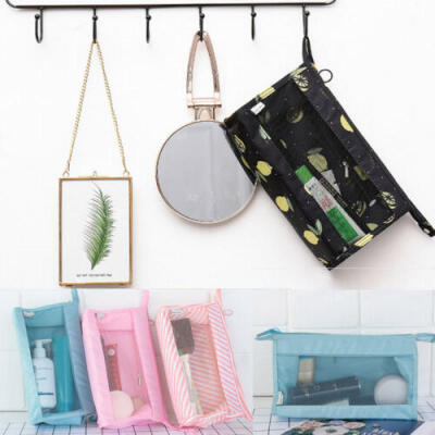 Travel Cosmetic Makeup Bag Toiletry Case Hanging Pouch Wash Organizer Storage