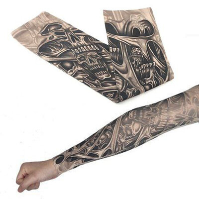 Flower arm tattoo sleeve seamless outdoor riding tattoo sunscreen sleeve riding tattoo sleeve custom color