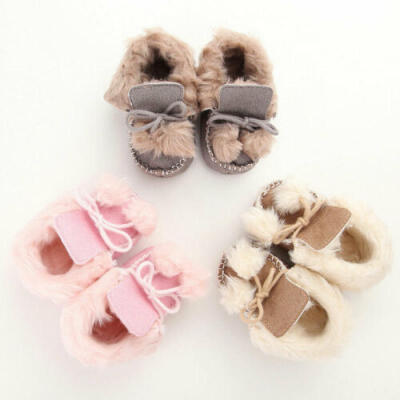 Baby Girl Boy Winter Warm Boots Newborn Toddler Infant Soft Sole Shoes Booties