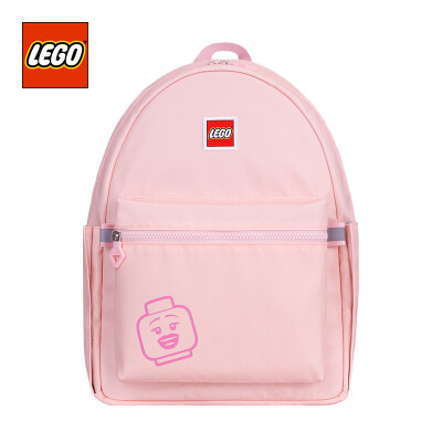 LEGO LEGO childrens school bag light shoulder bag 10 years old or older backpack adult fresh macarons color parent-child package large version men&women pink 20130