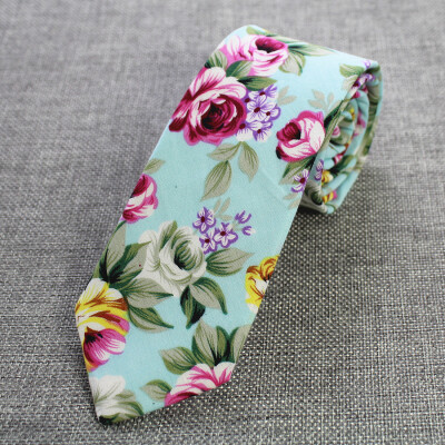 46 cotton printed tie custom made cotton tie European&American style innovative design cotton tie